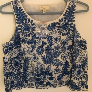 Beaded Anthropologie Tank Top - NWT